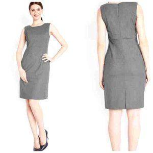 BANANA REPUBLIC Italian Wool Tan Grey Sheath Dress